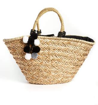 Onigo Farol Pom Tassel Tote Bag With Lining