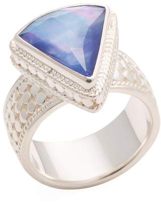 Anna Beck Jewelry Women's Triangle Wide Lapis Triplet Single Ring