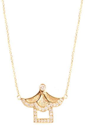 Bao Wan Diamond & gold Pagoda necklace
