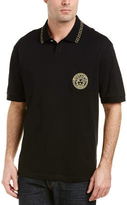 Versace Embroidered Medusa Polo