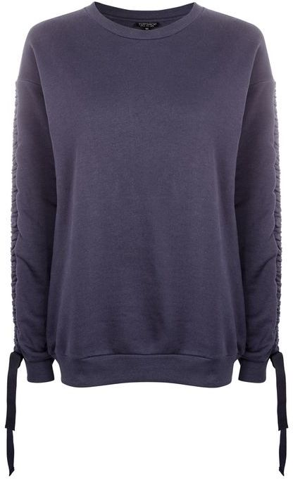 Topshop Topshop Ruched sleeve sweat