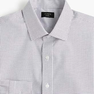 J.Crew Ludlow Slim-fit stretch two-ply easy-care cotton dress shirt in microcheck