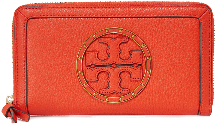 Tory Burch Tory Burch Studded Logo Zip Continental Wallet