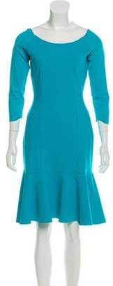 Chiara Boni Knee-Length Long Sleeve Dress Blue Knee-Length Long Sleeve Dress