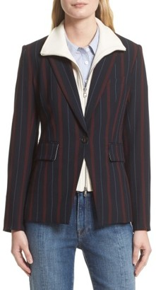 Women's Veronica Beard Carter Cutaway Jacket With Removable Dickey $745 thestylecure.com