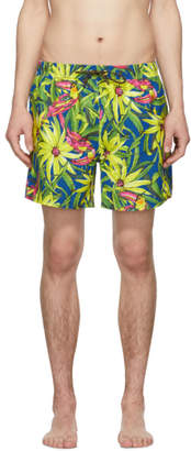 BOSS Yellow Threadfin Swim Shorts