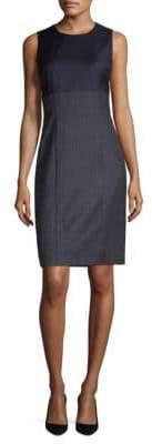 BOSS Mini Check-Print Sheath Dress