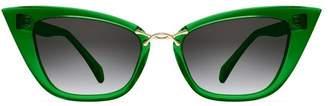 Oscar de la Renta x Morgenthal Frederics Oversized Sleek Sunglasses