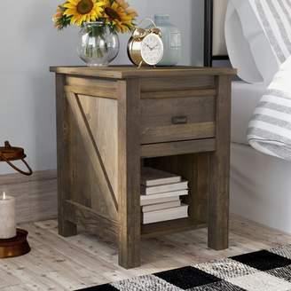 Gracie Oaks Cleveland 1 Drawer Nightstand