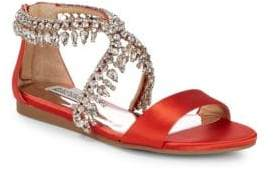 Badgley Mischka Tristen Leather Slide Sandals