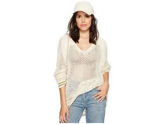 Free People Shadow Stripe Mesh Hoodie Women's Sweatshirt