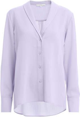 Tibi Shawl Collar Crepe Shirt