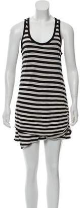 Proenza Schouler Striped Sleeveless Mini Dress Black Striped Sleeveless Mini Dress