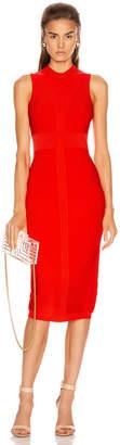 Cushnie Sleeveless Knit Pencil Dress in Vermillion | FWRD