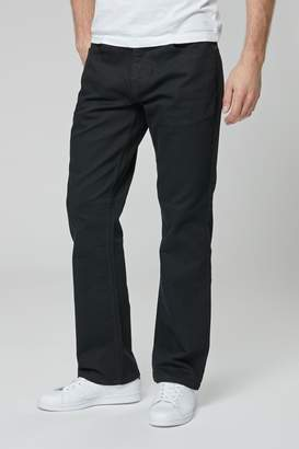 Next Mens Black Bootcut Fit Jeans With Stretch - Black