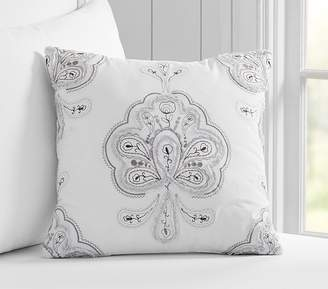 Pottery Barn Kids Natalie Medallion Decorative Pillow, 16x16 Inches, Gray