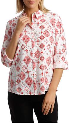 Regatta Must Have Cotton Shirt - Red Stencil