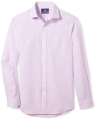 Buttoned Down Men's Classic Fit Spread-Collar Casual Linen Cotton Shirt