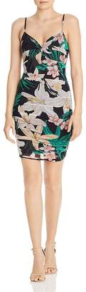 GUESS Niesha Ruched Floral Bodycon Dress