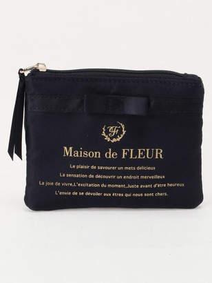 Maison de Fleur (メゾン ド フルール) - Maison de FLEUR サテンブランドロゴティッシュポーチ