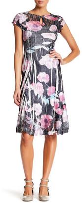 KOMAROV Keyhole Cap Sleeve Dress $278 thestylecure.com