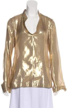 Tory Burch Silk Long Sleeve Blouse