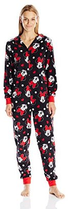 Disney Women's All-Over Print Minnie Mouse Onesie Pajama $60 thestylecure.com