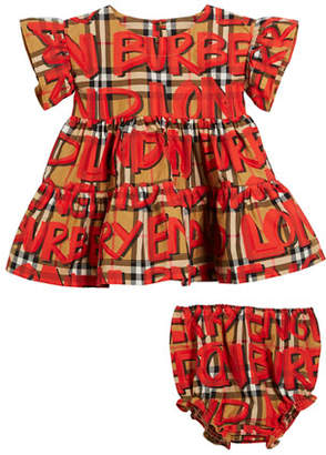 Burberry Amy 3-Piece Layette Gift Set - Dress, Bloomers & Bodysuit