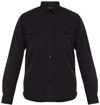 Rrl - Double Cargo Pocket Cotton Twill Shirt - Mens - Black