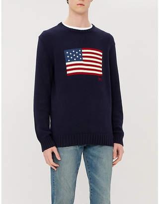 Polo Ralph Lauren Flag-knit cotton jumper