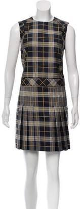 Burberry Haymarket Check Sleeveless Dress w/ Tags