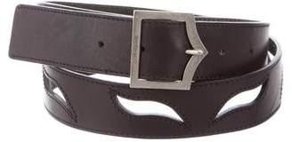 Christian Dior 2005 Laser-Cut D-Point Leather Belt