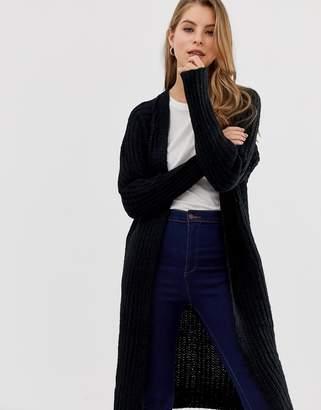 Qed London QED London longline cardigan in twisted yarn