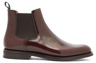 Church's Monmouth Patent Leather Chelsea Boots - Womens - Burgundy