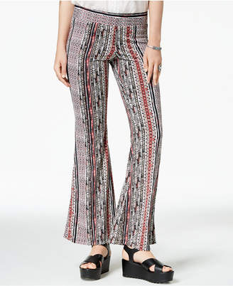 BCX Juniors' Striped Flared Pants