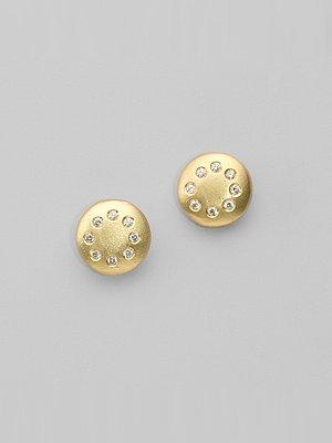Dominique Cohen Multi-Diamond Disc Earrings