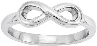 Steel By Design Stainless Steel Infinity Symbol Ring