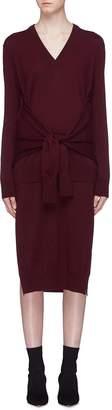 Chloé Sleeve tie side split wool knit dress