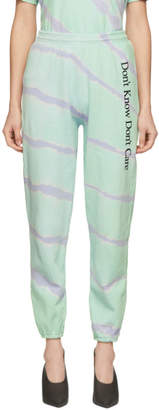 Ashley Williams Green Tie-Dye Dont Know Lounge Pants
