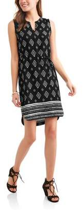 Time and Tru Women's Sleeveless Shift Dress