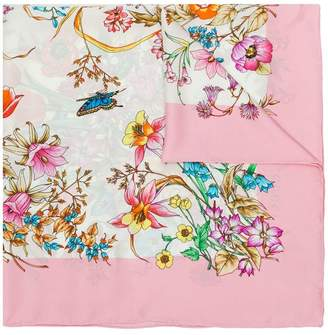 Gucci floral butterfly scarf