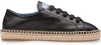 Prada lace-up espadrilles