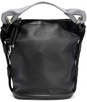 Acne Studios Bertha Large Two-Tone Textured-Leather Bucket Bag