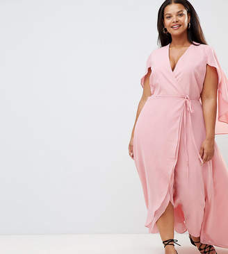 Alice & You Plus Frill Wrap Maxi Dress