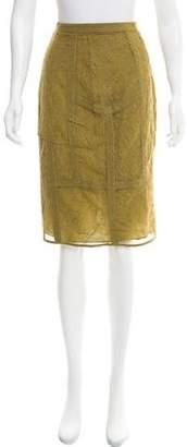 Burberry Silk Lace Skirt