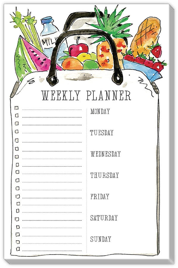 Market Bag 'Weekly Planner' Notepad