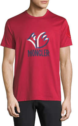Moncler Men's Genius Felted Logo Graphic T-Shirt
