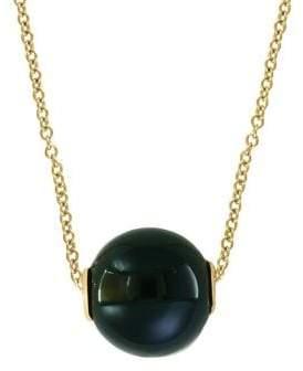 Effy 14K Yellow Gold & Onyx Pendant Necklace