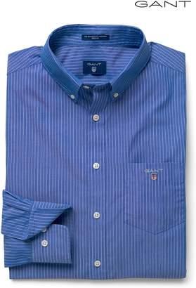 Next Mens GANT Blue Broadcloth Pinstripe Shirt