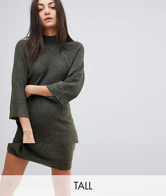 Noisy May Tall High Neck Knitted Dress